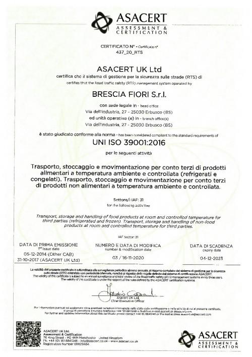 Brescia_Fiori_UNI_ISO_39001